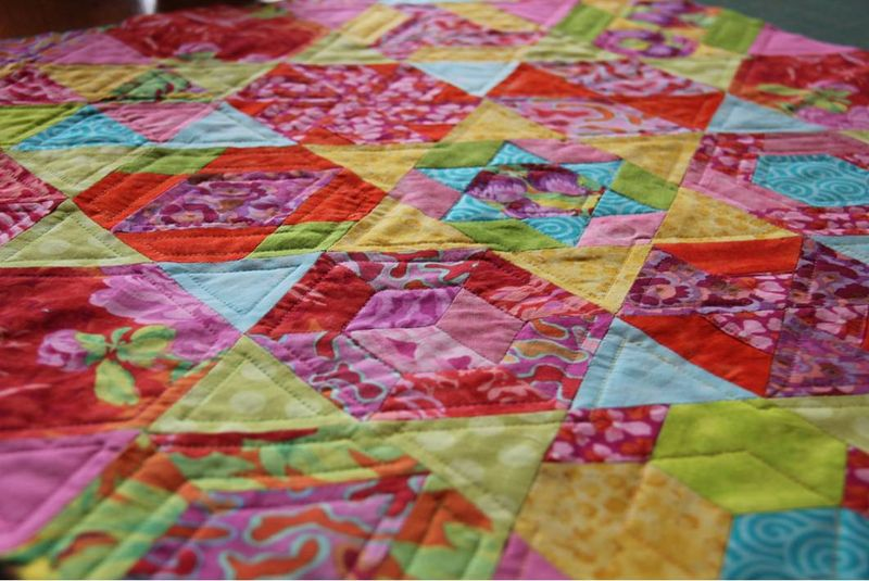 Hexagon alley closeup