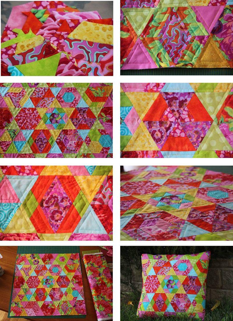 Hexagonally collage