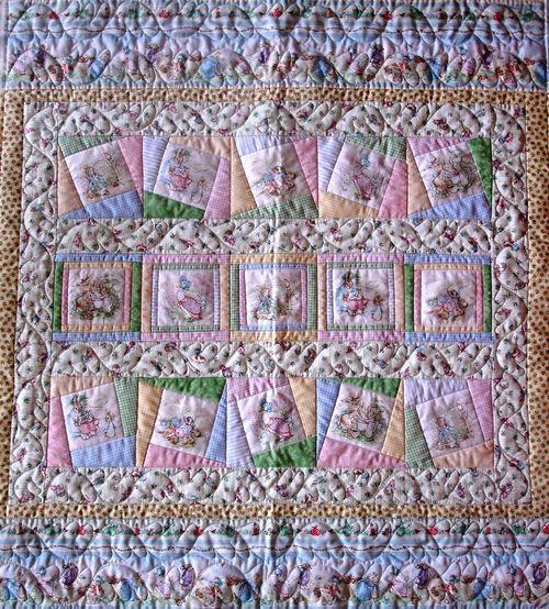Garden tales cot quilt