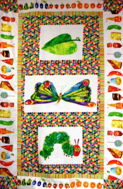 Hungry caterpillar quilt