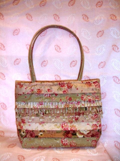 Pleated beaded bag